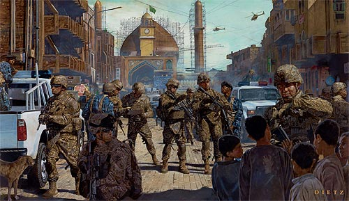 lions of salah ad din from iraqi freedom by the artist